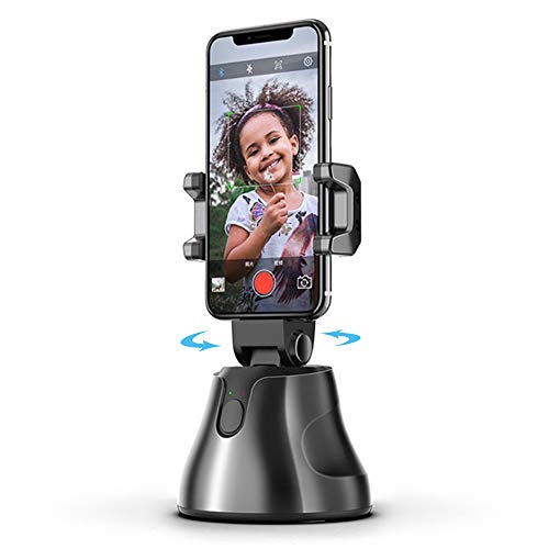 Ceepko 360 Rotation AI Smart Gimbal Personal Robot Cameraman, Gimbal Stabilizer for Smartphone, Automatic Face and Object Tracking Smart Selfie Stick for Vlog Live Video Record