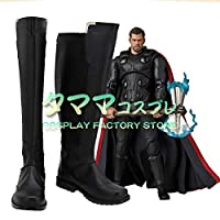 ソー アベンジャーズ/インフィニティ・ウォー 雷神 トール Avengers: Infinity War Thor コスプレ靴 コスプレブーツ cosplay オーダーサイズ/スタイル 製作可能 【タママ】(25cm)