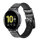 Innovedesire Army White Digital Camo Correa de Reloj Inteligente de Cuero y Silicona para Samsung Galaxy Watch, Watch3 Active, Active2, Gear Sport, Gear S2 Classic Tamaño (20mm)