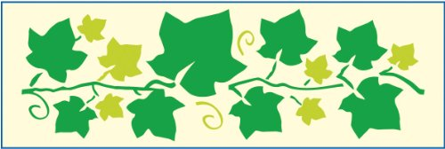 Mako Bordüren-Schablone mit Efeu # Größe: ca. 12 x 36 cm