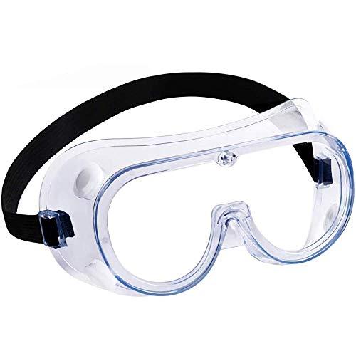 Gafas Protección, Laboratorio Gafas de Seguridad con Transparentes Lente óptica Anti Rasguños Antivaho Anti Virus - Protectoras para Ciclismo/DIY/Trabajo, Perfecto para Usuarios de Gafas Graduadas