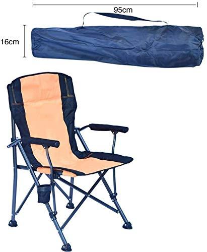 Chaises de camping avec abat-jour Canopy for adultes robuste Chaise pliante avec pelouse Porte-gobelet et Carry Portable Sac for extérieur Pêche Randonnée pique-nique (Color : Orange)