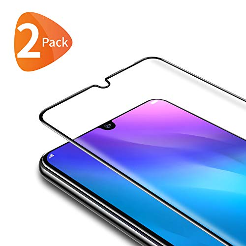 Bewahly Cristal Templado para Huawei P Smart 2019/P Smart 2020/Honor 10 Lite [2 Piezas], Ultra Fino Completa Cobertura Protector Pantalla 9H Dureza Alta Definicion Vidrio Templado Sin Burbujas