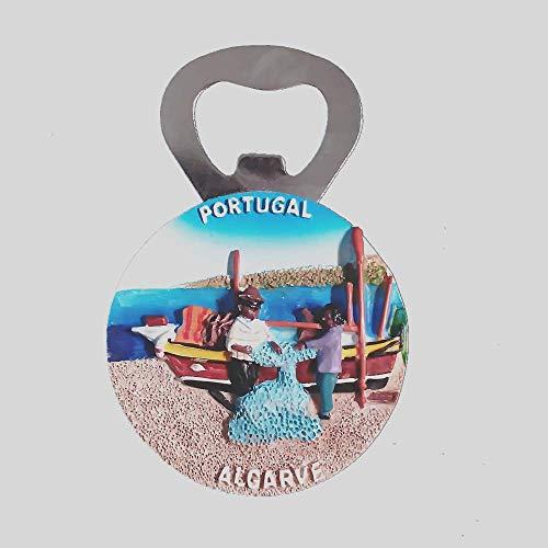 Imán para nevera 3D del Algarve Portugal, recuerdo de viaje, abrebotellas de regalo, colección de decoración para el hogar y la cocina, pegatina magnética Algarve, imán para nevera