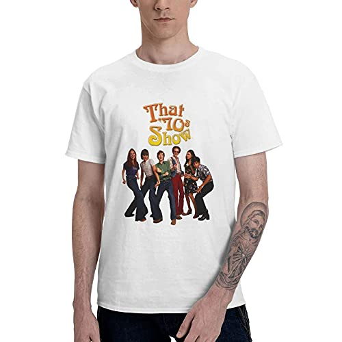 COOTHING That  70s Show Logo Mens Novelty Casual Printed Basic Crew Neck White T Shirt Costume