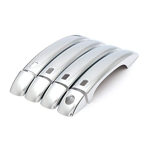 LIZCX 8 PC/Satz Chrom-Auto-Tür-Handgriff-Abdeckungs-Fall Trim Kit Außenteile Zubehör ABS Fit for Audi Q5 2009-2013 A4 B8 S4 A5 2008-2011