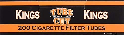 Gambler Tube Cut Regular King Size RYO Cigarette Tubes 200ct Box (5 Boxes)