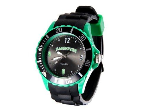 Alsino Armbanduhr WM EM Länder Silikon Uhren für Damen und Herren Silikonuhr, UR-253 Hannover