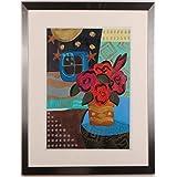 リー・フィリップス 「バラのブーケ」 薔薇 花 絵画 絵 モノタイプ 版画 額付き
