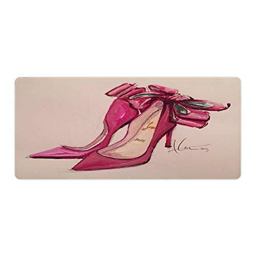 Alfombrilla de ratón para escritorio y portátil, diseño de tacones, 1 unidad, 1000 x 600 x 3 mm, color rosa