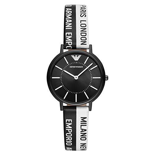 Emporio Armani Reloj para Mujer de Cuarzo con Correa en Cuero Genuino AR11253
