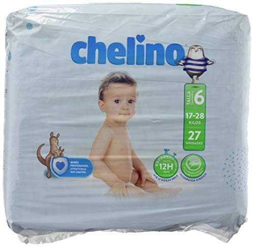 Chelino Fashion & Love, Talla 6, 27 pañales