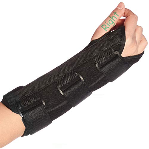 Wrist Brace Stabilizer Support Brace with Aluminum Splint for Carpal Tunnel Arthritis, Adjustable Arm Compression Hand Support for Injuries, Wrist Pain, Sprain, Sports - Single (Right, Medium)