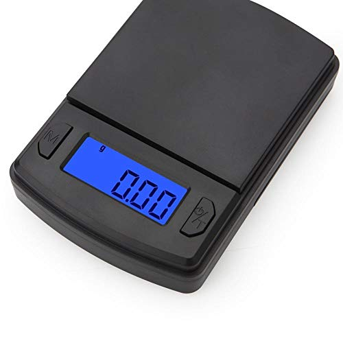 Zwarte Mini Weegschaal 100g 500g 1kg Nauwkeurigheid 0.01g / 0.1g Digitale Elektrische Zakweegschaal LCD Sieraden Gram Munten Kruiden Gewichtsbalans 200g x 0.01g