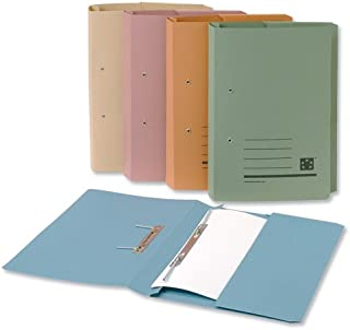 5 Star Transfer Spring File with Pocket 315gsm 38mm Foolscap Buff [Pack of 25]