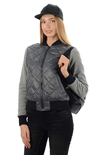 Stayer dames thermo-jas sportief Urban kort vrijetijdsjack sport winterjas college-jas grijs zwart