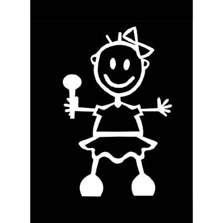 My Stick Figure Family Familie Autoaufkleber Aufkleber Sticker Decal Baby Mädchen Bg2 Auto