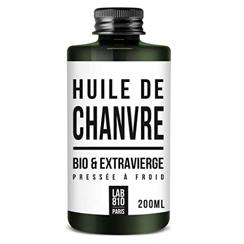 HUILE DE CHANVRE BIO 100% Pure et Naturelle, Pressée à Froid & Extra Vierge. Soin réparateur Cheveux, Anti-Age. Hydrate les cheveux et raffermit la Peau. Cannabis sativa Biologique (200ml)