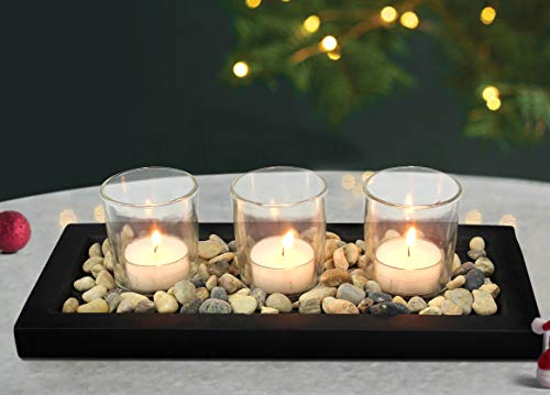 Tied Ribbons Glass Tealight Candle Holder