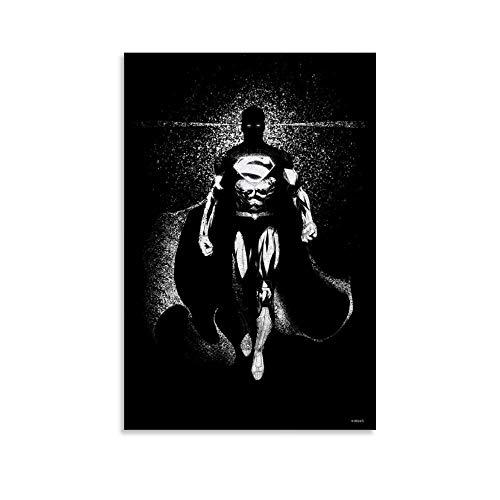 WERTQ Superman Poster dekorative Malerei Leinwand Wandkunst Wohnzimmer Poster Schlafzimmer Malerei 12x18inch(30x45cm)