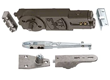 Jackson Heavy Duty Spring 7/8  Extended Spindle 90 Deg Hold-Open Overhead Concealed Closer w/  S  Side-Load Hardware Package - 21104S12