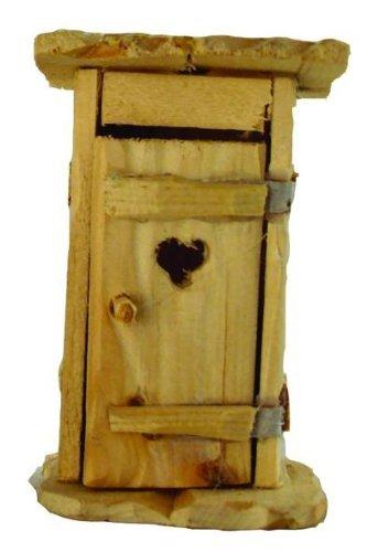 Krippenzubehör, Toilettenhäusschen natur, Höhe 12cm