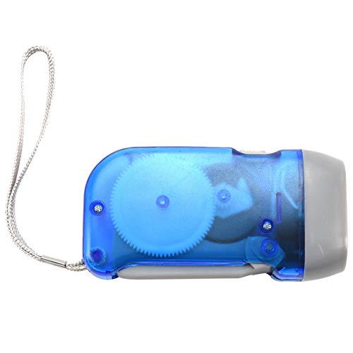 CKMSYUDG Mano de prensa linterna LED linterna dinamo linterna LED emergencia hogar dinamo antorcha lámpara auto-carga mano luz