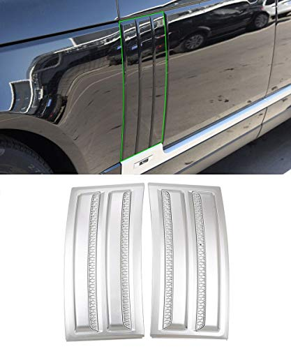 Topauto Top-Auto - Kit de ventilación de Aire para Guardabarros de Puerta Lateral de ABS, Color Plateado Brillante, Accesorios para Land Rover Range Rover Vogue SVO 2014-2018