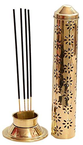 Billion Deals Safety Agarbatti Stand Brass Gold 26 x 7.6 x 5.2 cm Approx (Assorted Design)