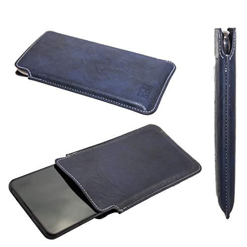 caseroxx Business-Line Etui für LG G8X ThinQ, Tasche (Business-Line Etui in blau)
