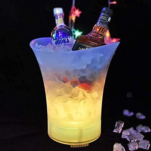 XIAOWANG Chubbel de Hielo Luminoso LED con Altavoz Bluetooth inalámbrico, 5L RGB Mayor Botella Enfriador - Enfriador de champán - Enfriador de vinos - Enfriador de Bebidas - Enfriador
