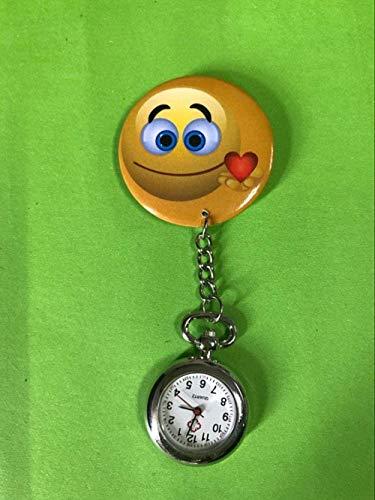 LLGG Reloj De Bolsillo De Cuarzo A Prueba De Agua,Reloj médico Universal para Enfermeras, Reloj Creativo de Cuarzo para Estudiantes.-25,Reloj MéDico De Bolsillo Colgante