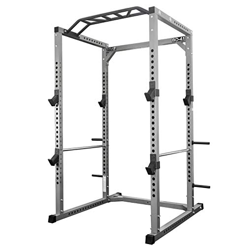 Valor Fitness BD-41 Heavy Duty Power Cage with Multi-Grip Chin-Up Bar