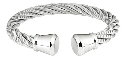 Zippo Brazalete de alambre para hombre, plata, 65 mm
