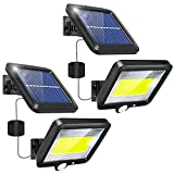 Solar Lights Outdoor Motion Sensor 2 Pack LED Solar Flood Lights Outdoor Security Light Motion Yard Solar Powered Lights Outside Waterproof IP65 with 3 Lighting Mode 120° Angle for Garden Patio Path