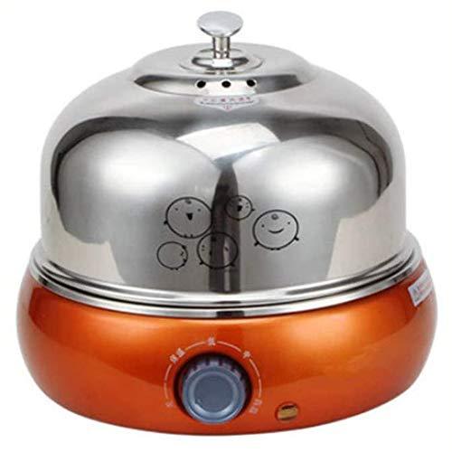 Gestoomde ei, verwijderbare automatische elektrische eierkoker van roestvrij staal 9 eieren, geschikt voor zachte, middelharde en hardgekookte eieren, gekookte eieren,Silver