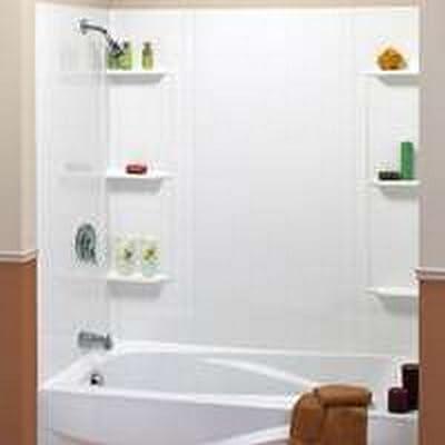 Maax 101604-000-129 5-Piece Bathtub Wall Kit, 48-60 in L X 31 in W X 59 in H, Polystyrene