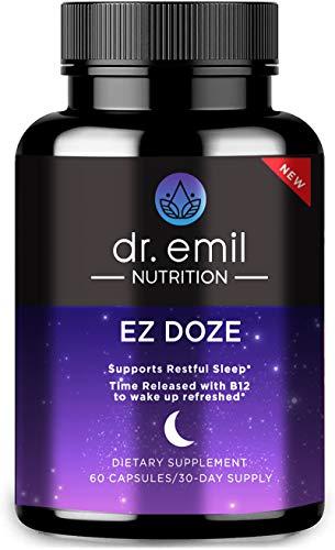 Dr. Emil Nutrition EZ Doze Natural Vegan Sleep Aid with Valerian Root,...