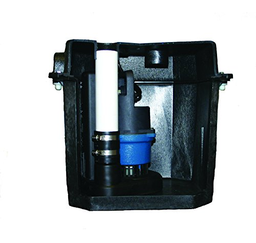 Barnes 131411 Model SU33LT Preassembled Laundry Tray Sump Pump System with SU33 Pump, for Residential or Commercial Plumbing, 1/3 HP, 120V, 42 GPM, 1-1/2' NPT Discharge