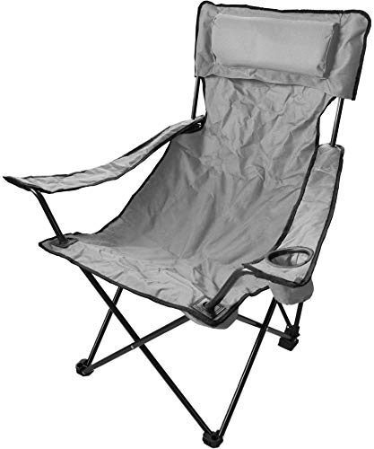 normani Robuster Camping Outdoor Angler Klappstuhl Outdoor Farbe Grau Deluxe