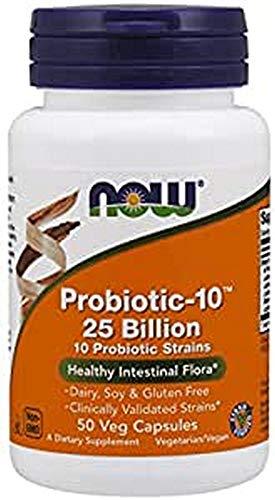 Now Foods Probiotic-10, 25 Billion Capsules, 50-Count