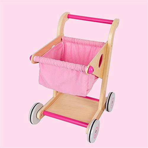 BTTNW Juguete de Cochecito de bebé Juego Carretilla niños y niñas de la simulación de los niños Casa Conjunto de Juguete 2 Colores para niñas y niños (Color : Pink, Size : 30x34x45CM)