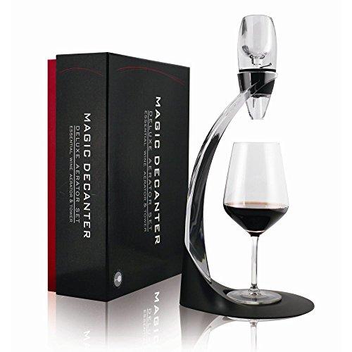 Mayshion deluxe aeratore per vino, aeratore per vino, decanter Magic decanter per vino, aeratore per vino con supporto e accessori