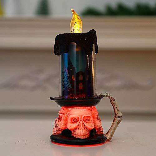 Cráneo De Halloween Vela De La Decoración LED Vela Electrónica Calabaza Luz...
