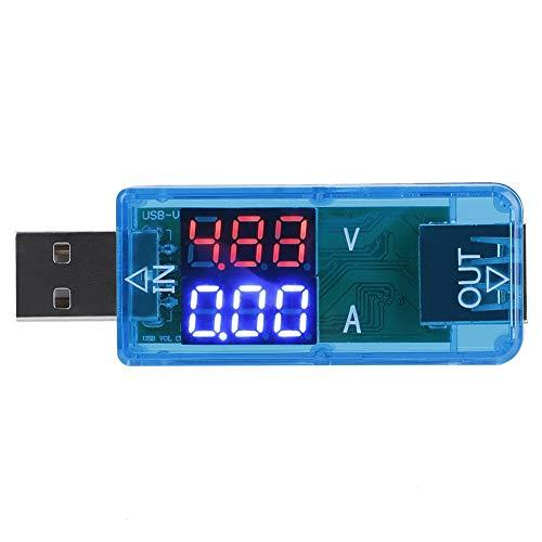 Probador USB, Akozon Pantalla LCD en color Volt¨ªmetro Amper¨ªmetro Medidor de corriente Cargador mult¨ªmetro Probador USB Velocidad de prueba de los cables del cargador(Azul)