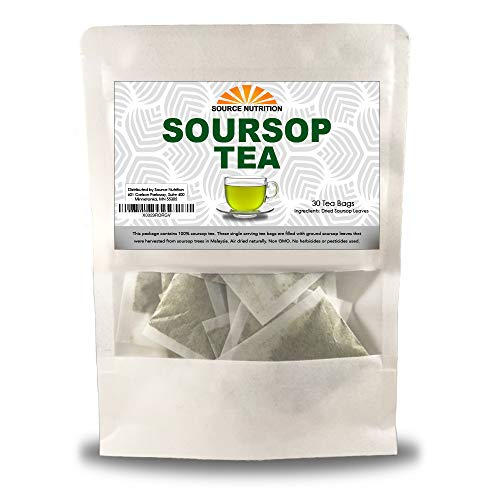 Organic Dried Soursop Leaves - Whole Dried Leaves, Pure Graviola for Tea, High in Acetogenins- 2 oz Resealable Bag (Soursop Leaves)