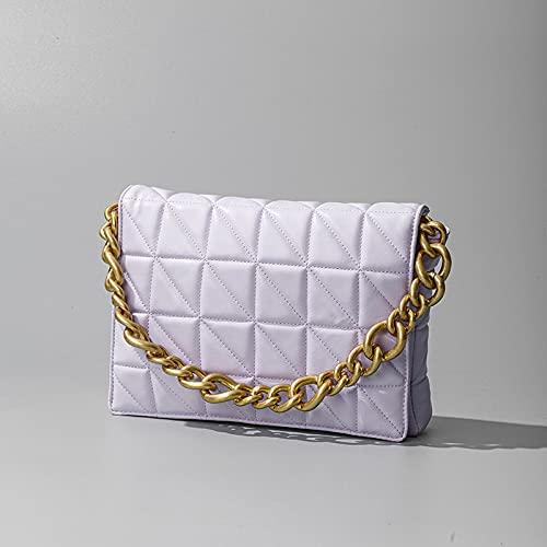 wbwlfjtlll 2021 Women Flap Bag Vintage Messenger Bag Retro Shoulder Bag Simple Handbag Bag Tote (Color : Light Green, Size : Metal Chain)