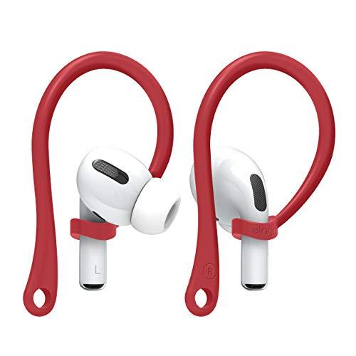 elago EarHooks AirPods Ohrbügel Kompatibel mit Apple AirPods Pro und AirPods 1 & 2 Ohrhalter [US Patent Angemeldet] (Rot)