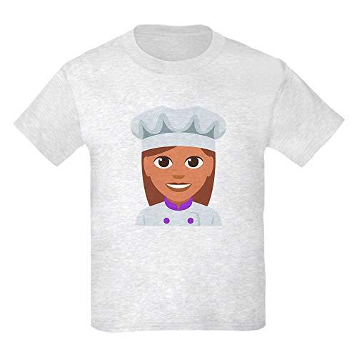 CafePress Female Cook Kids Light T Shirt Kids Cotton T-Shirt Ash Grey