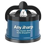 AnySharp Afilador De Cuchillos Con Ventosa, Azul
